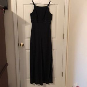Black semiformal gown